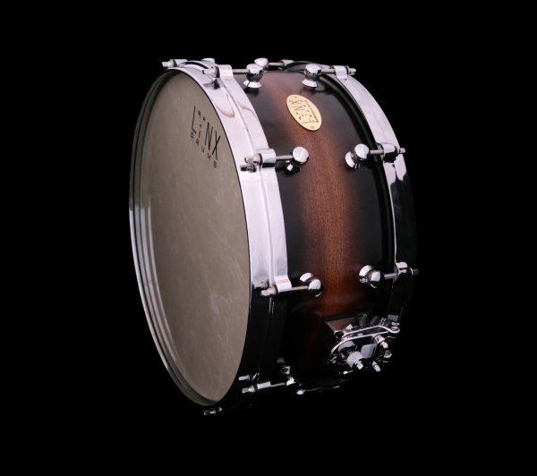 Snaredrum_Lynx_Custom_Drums, Mahagoni Drum
